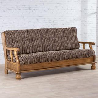 Huse monoelastice CASIOPEA maro 3fotoliu cu manere de lemn (l. 170 - 200 cm)
