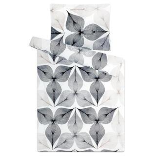 Lenjerie de pat din micropluş SIMBIOZĂ în alb-negru