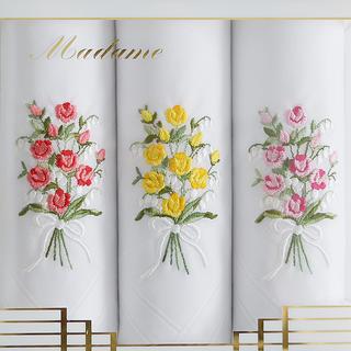 Batiste de damă din bumbac GRACE Buchet de trandafiri set 3 buc