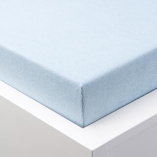 Cearșaf elastic frotir GRAND albastru ghețar