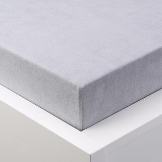 Cearșaf elastic frotir GRAND gri platină