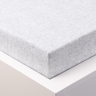 Cearșaf elastic frotir MELÉ alb-gri pastel