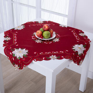 Şervet central de masă roşu, POISONETTA 85 x 85 cm