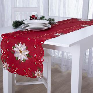 Faţă de masă runner de Crăciun cu broderie POISONETTA