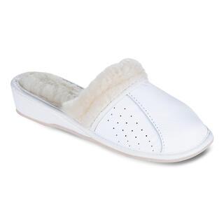 Papuci damă cu platformă albe