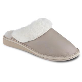 Papuci de damă pentru picior lat - bej