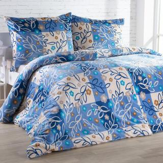 Lenjerie de pat din micropluş SARAH albastră