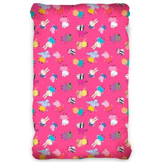 Cearșaf cu elastic pentru copii PORCUȘORUL PEPPA roz