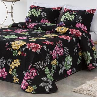 Cuvertură pat CRYSTAL neagră, pat simplu