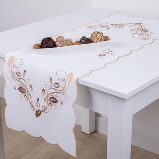 Runner de masă cu broderie 40 x 110 cm