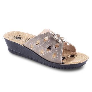 Papuci de damă cu platformă cu floare