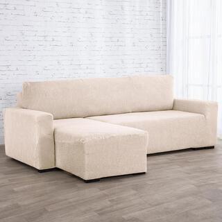 Huse care se întind foarte bine NIAGARA smântânii, canapea cu otoman stânga (l. 210 - 320 cm)
