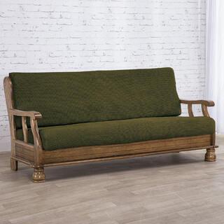 Huse care se întind foarte bine NIAGARA verzi 2fotoliu cu manere de lemn (l. 130 - 160 cm)