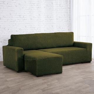 Huse care se întind foarte bine NIAGARA verzi canapea cu otoman stânga (l. 210 - 320 cm)