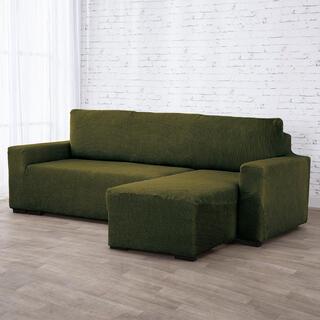 Huse care se întind foarte bine NIAGARA verzi canapea cu otoman dreapta (l. 210 - 320 cm)