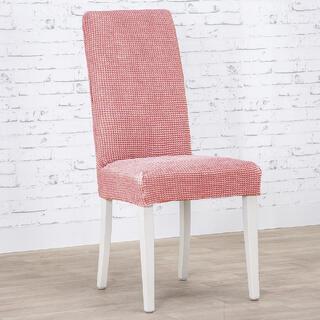 Huse care se întind foarte bine NIAGARA coral scaun cu spatar 2 buc (40 x 40 x 55 cm)