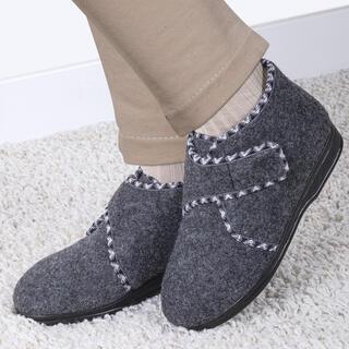 Papuci damă pe scai gri