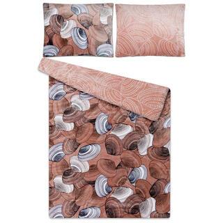 Lenjerie de pat din microflanel SCOICI, culoarea cafelei