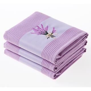 Set prosoape bucătărie vafelă LAVANDĂ violet 3 buc