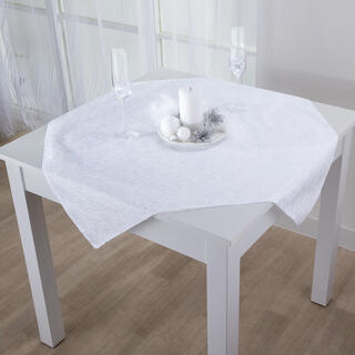 Şervet central de masă cu fir alb 85 x 85 cm