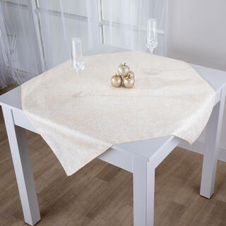 Şervet central de masă cu fir auriu 85 x 85 cm