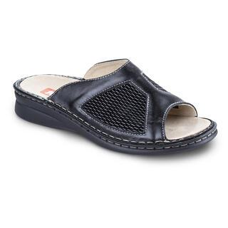 Papuci medicinali din piele cu căpută elastică