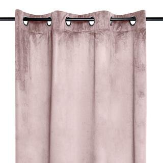 Draperie decorativă din velur DANAE roz prăfuit 140 x 260 cm