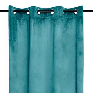 Draperie decorativă din velur DANAE turcoaz 140 x 260 cm