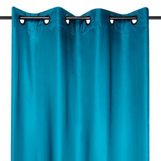 Draperie groasă STOCKHOLM albastru închis 140 x 260 cm