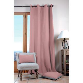 Draperie decorativă din bumbac DUO UNI roz prăfuit 135 x 240 cm
