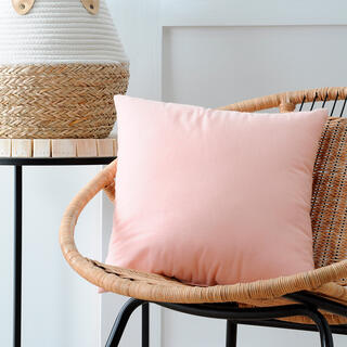 Pernuţă decorativă DUO UNI roz prăfuit, 40 x 40 cm