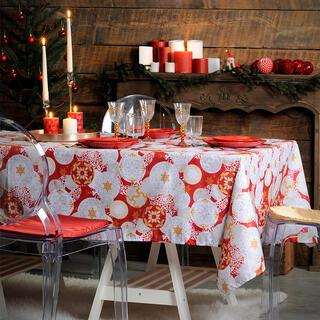 Faţă de masă de Crăciun globuri JINGLE BELLS 140 x 280 cm