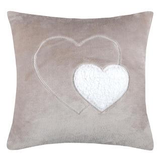 Pernuţă decorativă COCOON inimă bej 40 x 40 cm