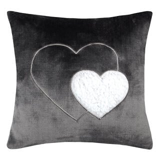 Pernuţă decorativă COCOON inimă antracit 40 x 40 cm