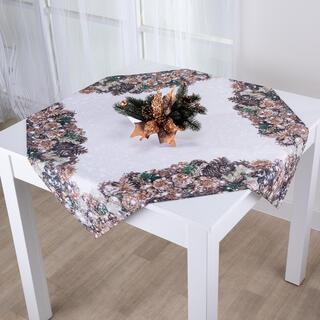Şervet de masă pentru Crăciun CONURI AURII 85 x 85 cm