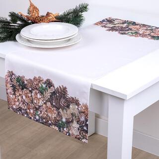 Runner de masă CONURI AURII 40 x 90 cm