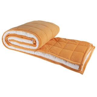 Pătură matlasată OIŢĂ portocalie 150 x 200 cm