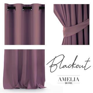 Draperie BLACKOUT AMELIA violet 140 x 245 cm