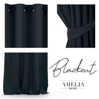 Draperie BLACKOUT AMELIA neagră 140 x 245 cm