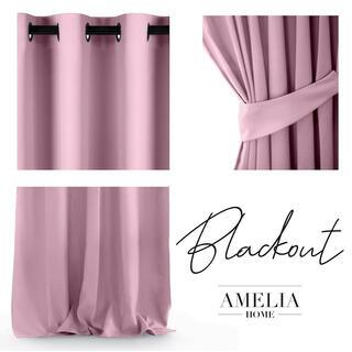 Draperie BLACKOUT AMELIA roz 140 x 245 cm