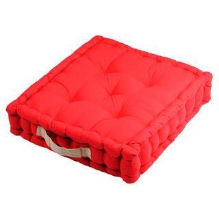 Pernă de podea DUO UNI roșie, 1 buc
