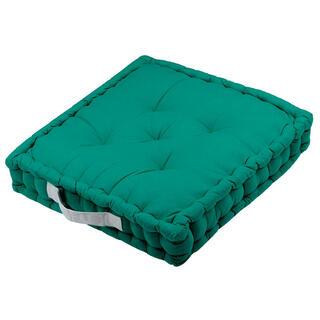 Pernă de podea DUO UNI verde, 1 buc