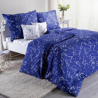 Set lenjerii de pat pentru familii AMANDA, cu cearceafuri şi feţe pernuţe, 8 piese