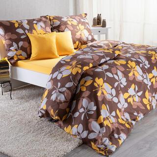 Set lenjerii de pat pentru familii STELLA, cu cearceafuri şi feţe pernuţe, 8 piese