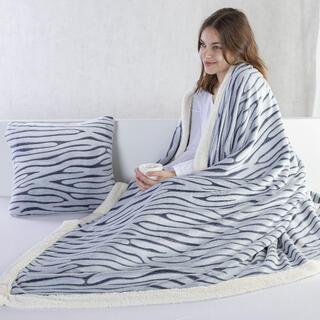 Pătură cu blăniţă din microfibră ZEBRĂ, 140 x 200 cm