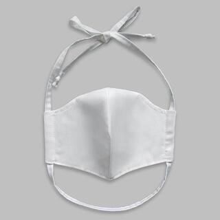 Mască satinată, albă