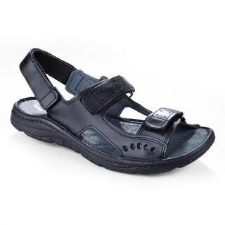 Sandale bărbăteşti din piele de culoare neagră