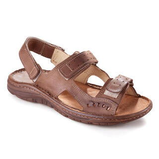 Sandale bărbăteşti din piele de culoare maro