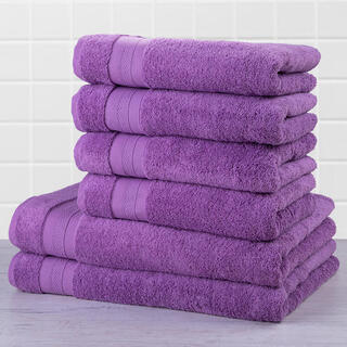 Set prosoape frotir MEXICO violet, 6 buc