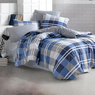 Lenjerie de pat din bumbac MARK albastru